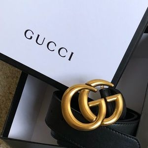 New Gucci Double G Logo GG Belt With Tags